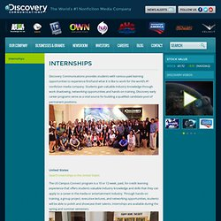 Internships : Discovery Communications