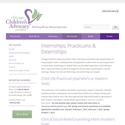 Internships, Practicums & Externships - Chicago Children's Advocacy Center