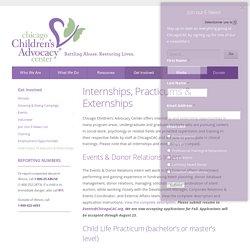 Internships, Practicums & Externships - Chicago Children's Advocacy Center