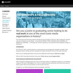internships & fellowships