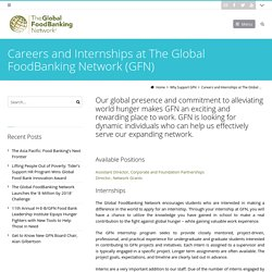 Careers and Internships at The Global FoodBanking Network (GFN) - The Global FoodBanking Network