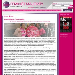 Internships in Los Angeles - Feminist Majority Foundation