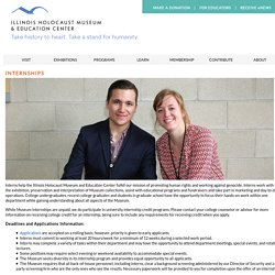 Internships « Illinois Holocaust Museum and Education Center