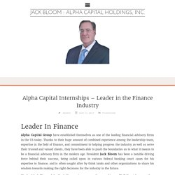 Alpha Capital Internships – Leader in the Finance Industry