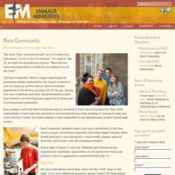 Emmaus Ministries – Chicago, IL