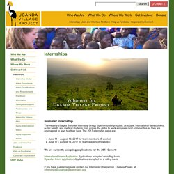 Internships « Uganda Village Project