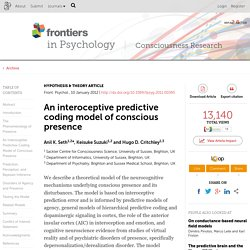 An interoceptive predictive coding model of conscious presence