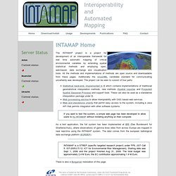 INTeroperability and Automated MAPping: INTAMAP