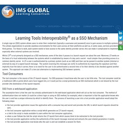 Learning Tools Interoperability as a SSO Mechanism