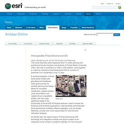 1-Interoperable Three-Dimensional GIS