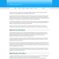 Interoperable SAML 2.0 Profile