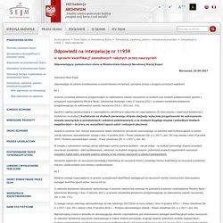 Interpelacja nr 11959 - tekst odpowiedzi