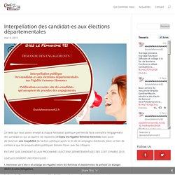 Interpellation des candidat-es aux élections départementales - Osez Le Féminisme 92