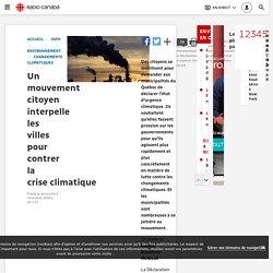Un mouvement citoyen interpelle les villes pour contrer la crise climatique