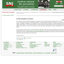 1. Le SNJ interpelle le ministre