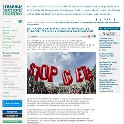 [ACTION EN LIGNE] NON AU CETA: Interpellez les euro-député.e.s de la commission Environnement