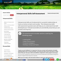Interpersonal Skills Self-Assessment Skills You Need