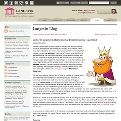 Content is King: Interpersonal Content and e-Learning