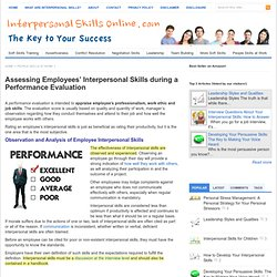 Interpersonal Skills in a Performance Evaluation