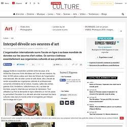 Interpol dévoile ses oeuvres d'art