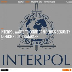 Interpol wants to connect Nigeria's security agencies to its database