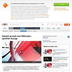 Interpol op zoek naar WikiLeaks-oprichter Asange