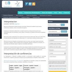 Interpretacion - Traductores profesionales