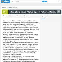 """""""Rejtan - upadek Polski"""" J. Matejki ..."""