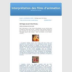 Héritage sexuel chez Disney « Interprétation des films d'animation