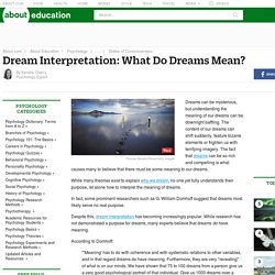 Dream Interpretation: What Do Dreams Really Mean?