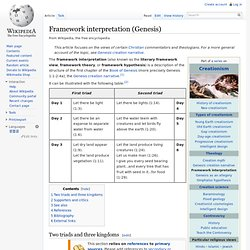 Framework interpretation (Genesis)
