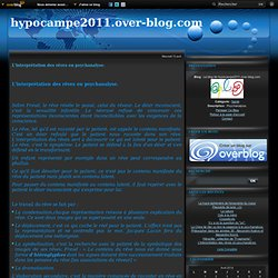 L'interprétation des rêves en psychanalyse. - Le blog de hypocampe2011.over-blog.com