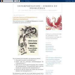 Formes et Problèmes: Catherine Tauveron et l'interprétation en didactique de la littérature