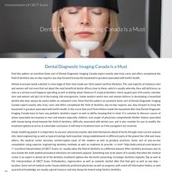 Dental Diagnostic Imaging Canada Is a Must