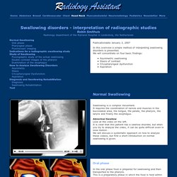 The Radiology Assistant : Swallowing disorders - interpretation of radiographic studies