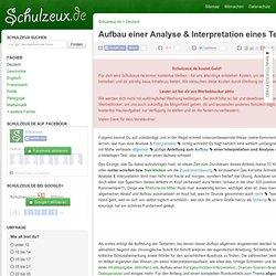Aufbau Analyse & Interpretation eines Textes › Schulzeux.de