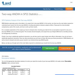 Two-way ANOVA Output and Interpretation in SPSS Statistics - Including Simple Main Effects