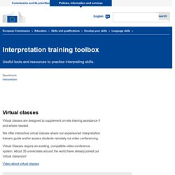 Interpretation training toolbox