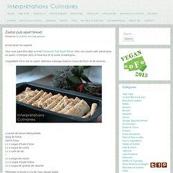 Zaatar pull-apart bread