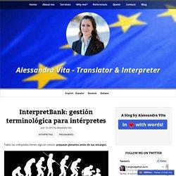 InterpretBank: gestión terminológica para intérpretes - Alessandra Vita