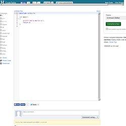 Online Compiler/Interpreter