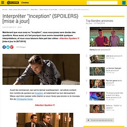 "Interpréter ""Inception"" (SPOILERS) [mise à jour]"