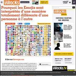 Pourquoi les Emojis sont interprétés d'une manière totalement différente d'une personne à l'autre - Les Inrocks