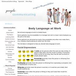 Interpreting Body Language at Work