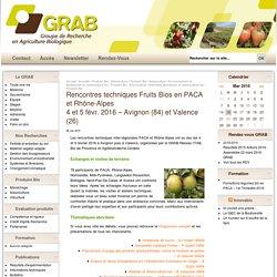 Rencontres techniques interregionales Fruits Biologiques
