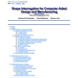Shape Interrogation for Computer Aided Design and Manufacturing (Hyperbook Edition)