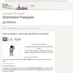 test L'interrogation... poser des questions en français
