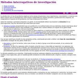 Métodos interrogativos de investigación
