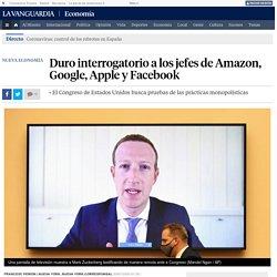 Duro interrogatorio a los jefes de Amazon, Google, Apple y Facebook