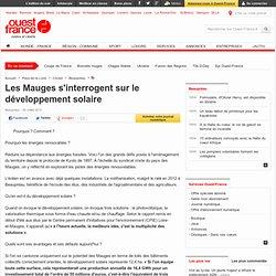 Les Mauges s'interrogent sur le développement solaire , Beaupréau 27/07/2013